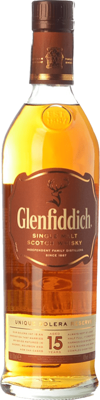 38,95 € Free Shipping | Whisky Single Malt Glenfiddich 15 Speyside United Kingdom Bottle 70 cl