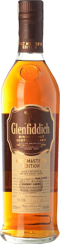 53,95 € | Whisky Single Malt Glenfiddich Malt Master Speyside United Kingdom Bottle 70 cl