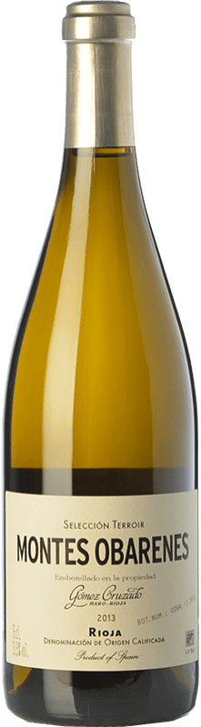 43,95 € 免费送货 | 白酒 Gómez Cruzado Montes Obarenes Crianza D.O.Ca. Rioja 拉里奥哈 西班牙 Viura, Tempranillo White 瓶子 75 cl