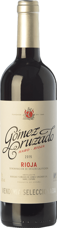 13,95 € Envoi gratuit | Vin rouge Gómez Cruzado Vendimia Seleccionada Joven D.O.Ca. Rioja La Rioja Espagne Tempranillo, Grenache Bouteille 75 cl