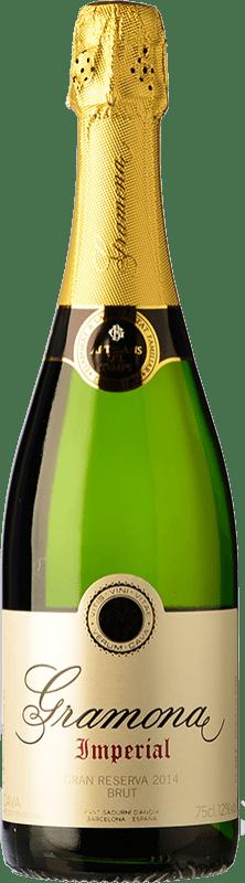 23,95 € Envio grátis | Espumante branco Gramona Imperial Gran Reserva D.O. Cava Catalunha Espanha Macabeo, Xarel·lo, Chardonnay Garrafa 75 cl