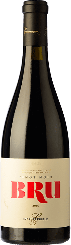 23,95 € Free Shipping | Red wine Gramona Bru de Gramona Joven D.O. Penedès Catalonia Spain Pinot Black Bottle 75 cl