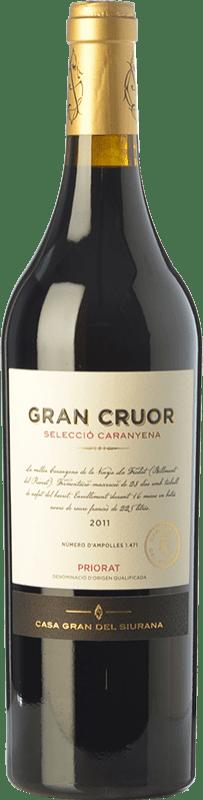 46,95 € Free Shipping | Red wine Gran del Siurana Gran Cruor Selecció Caranyena Crianza D.O.Ca. Priorat Catalonia Spain Carignan Bottle 75 cl