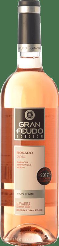 7,95 € Free Shipping | Rosé wine Gran Feudo Edición Rosado D.O. Navarra Navarre Spain Tempranillo, Merlot, Grenache Bottle 75 cl