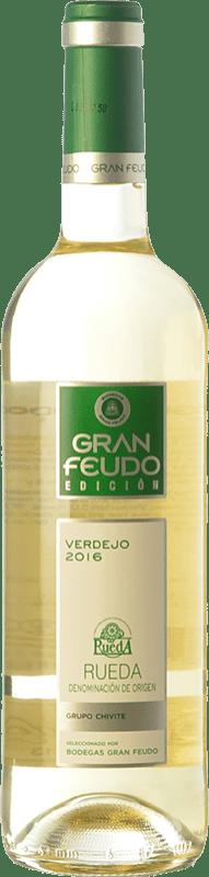 7,95 € Envoi gratuit | Vin blanc Gran Feudo Edición D.O. Rueda Castille et Leon Espagne Verdejo Bouteille 75 cl