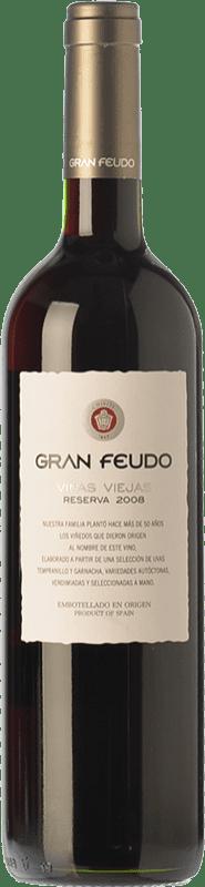 13,95 € Free Shipping | Red wine Gran Feudo Viñas Viejas Reserva D.O. Navarra Navarre Spain Tempranillo, Grenache Bottle 75 cl