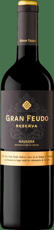 6,95 € Free Shipping | Red wine Gran Feudo Reserva D.O. Navarra Navarre Spain Tempranillo, Merlot, Cabernet Sauvignon Bottle 75 cl