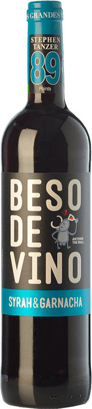 5,95 € 免费送货 | 红酒 Grandes Vinos Beso de Vino Joven D.O. Cariñena 阿拉贡 西班牙 Syrah, Grenache 瓶子 75 cl