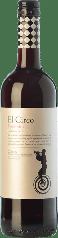4,95 € 免费送货 | 红酒 Grandes Vinos El Circo Equilibrista Joven D.O. Cariñena 阿拉贡 西班牙 Carignan 瓶子 75 cl