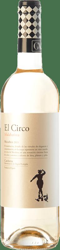 4,95 € 免费送货 | 白酒 Grandes Vinos El Circo Malabarista Joven D.O. Cariñena 阿拉贡 西班牙 Macabeo 瓶子 75 cl