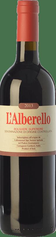 69,95 € Envío gratis | Vino tinto Grattamacco Superiore L'Alberello D.O.C. Bolgheri Toscana Italia Cabernet Sauvignon, Cabernet Franc, Petit Verdot Botella 75 cl