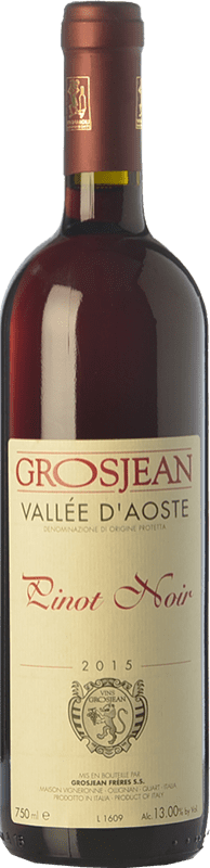 17,95 € | Red wine Grosjean Pinot Nero D.O.C. Valle d'Aosta Valle d'Aosta Italy Pinot Black Bottle 75 cl