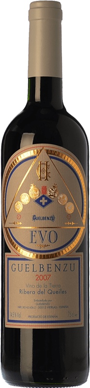 14,95 € Free Shipping | Red wine Guelbenzu Evo Crianza I.G.P. Vino de la Tierra Ribera del Queiles Aragon Spain Tempranillo, Merlot, Cabernet Sauvignon Bottle 75 cl