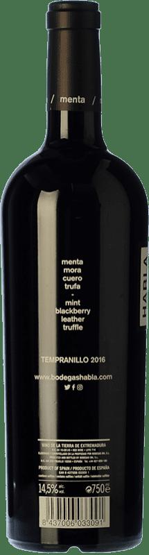 25,95 € Free Shipping | Red wine Habla Nº 22 Crianza I.G.P. Vino de la Tierra de Extremadura Estremadura Spain Syrah Bottle 75 cl