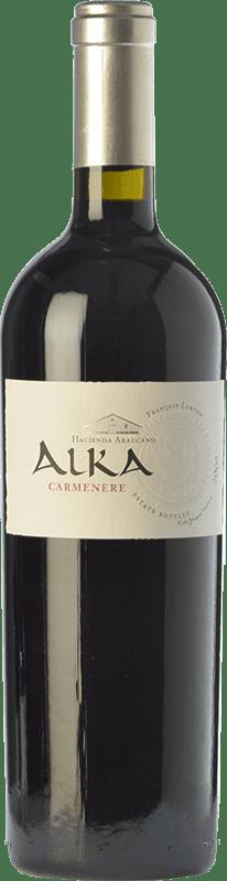 54,95 € Free Shipping | Red wine Araucano Alka Crianza I.G. Valle de Colchagua Colchagua Valley Chile Carmenère Bottle 75 cl
