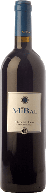 8,95 € Free Shipping | Red wine Hornillos Ballesteros Mibal Joven D.O. Ribera del Duero Castilla y León Spain Tempranillo Bottle 75 cl
