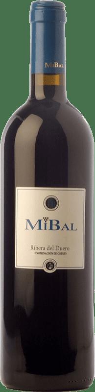 8,95 € Envío gratis | Vino tinto Hornillos Ballesteros Mibal Joven D.O. Ribera del Duero Castilla y León España Tempranillo Botella 75 cl