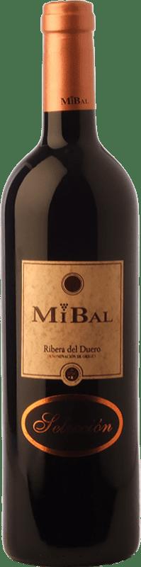 13,95 € 免费送货 | 红酒 Hornillos Ballesteros Mibal Selección Crianza D.O. Ribera del Duero 卡斯蒂利亚莱昂 西班牙 Tempranillo 瓶子 75 cl