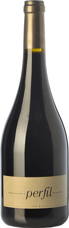 47,95 € 免费送货 | 红酒 Hornillos Ballesteros Perfil de Mibal Crianza D.O. Ribera del Duero 卡斯蒂利亚莱昂 西班牙 Tempranillo 瓶子 75 cl