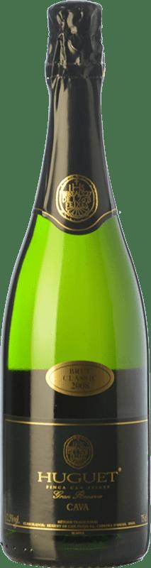 13,95 € Envío gratis | Espumoso blanco Huguet de Can Feixes Clàssic Brut Gran Reserva D.O. Cava Cataluña España Pinot Negro, Macabeo, Parellada Botella 75 cl