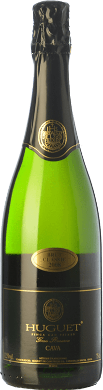 13,95 € Free Shipping | White sparkling Huguet de Can Feixes Clàssic Brut Gran Reserva D.O. Cava Catalonia Spain Pinot Black, Macabeo, Parellada Bottle 75 cl