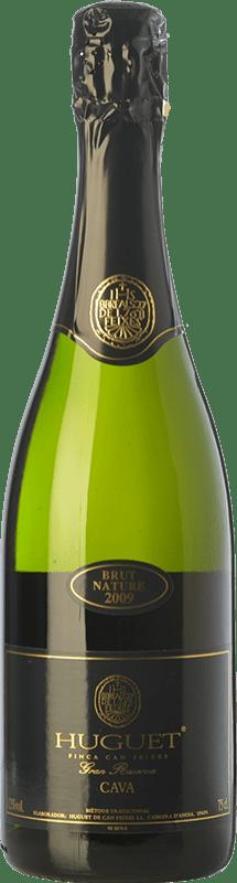 14,95 € Envío gratis | Espumoso blanco Huguet de Can Feixes Brut Nature Gran Reserva D.O. Cava Cataluña España Pinot Negro, Macabeo, Parellada Botella 75 cl