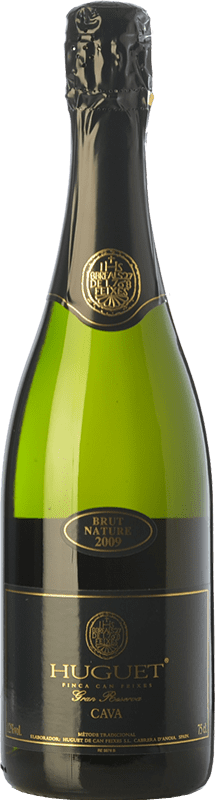 14,95 € Free Shipping | White sparkling Huguet de Can Feixes Brut Nature Gran Reserva D.O. Cava Catalonia Spain Pinot Black, Macabeo, Parellada Bottle 75 cl