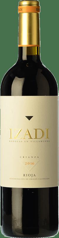 18,95 € Envío gratis | Vino tinto Izadi Crianza D.O.Ca. Rioja La Rioja España Tempranillo Botella Mágnum 1,5 L