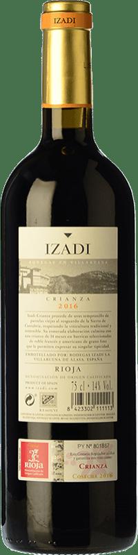 12,95 € Free Shipping | Red wine Izadi Crianza D.O.Ca. Rioja The Rioja Spain Tempranillo Magnum Bottle 1,5 L