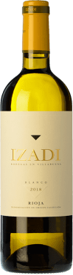 9,95 € Envío gratis | Vino blanco Izadi Crianza D.O.Ca. Rioja La Rioja España Viura, Malvasía Botella 75 cl
