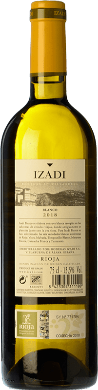9,95 € | White wine Izadi Crianza D.O.Ca. Rioja The Rioja Spain Viura, Malvasía Bottle 75 cl