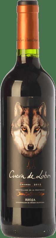 6,95 € | Red wine San Pedro Ortega Cueva de Lobos Crianza D.O.Ca. Rioja The Rioja Spain Tempranillo Bottle 75 cl