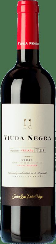 8,95 € | Red wine San Pedro Ortega Viuda Negra Crianza D.O.Ca. Rioja The Rioja Spain Tempranillo Bottle 75 cl