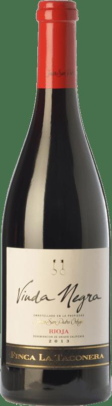 18,95 € | Red wine San Pedro Ortega Viuda Negra Finca La Taconera Crianza D.O.Ca. Rioja The Rioja Spain Tempranillo Bottle 75 cl