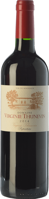 9,95 € Free Shipping | Red wine Jean-Luc Thunevin Domaine Virginie Crianza A.O.C. Bordeaux Bordeaux France Merlot, Cabernet Sauvignon, Cabernet Franc Bottle 75 cl