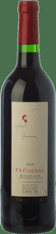 6,95 € Free Shipping | Red wine Jean-Luc Thunevin Presidial Le Coq Rouge Joven A.O.C. Bordeaux Bordeaux France Merlot, Cabernet Sauvignon, Cabernet Franc Bottle 75 cl