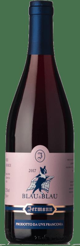 26,95 € Envío gratis | Vino tinto Jermann Blau & Blau I.G.T. Friuli-Venezia Giulia Friuli-Venezia Giulia Italia Pinot Negro, Blaufrankisch Botella 75 cl