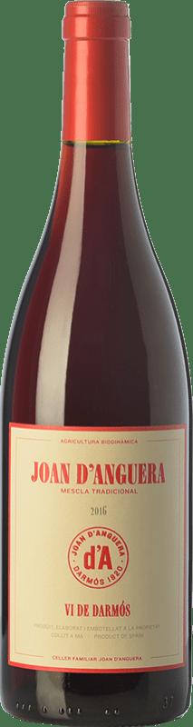 8,95 € Free Shipping | Red wine Joan d'Anguera Vi de Darmós Joven D.O. Montsant Catalonia Spain Syrah, Grenache, Cabernet Sauvignon Bottle 75 cl