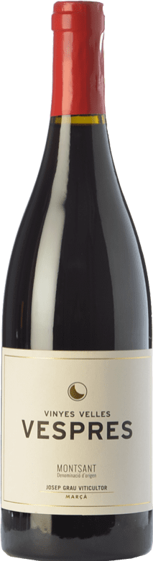 18,95 € Envoi gratuit | Vin rouge Josep Grau Vespres Joven D.O. Montsant Catalogne Espagne Merlot, Grenache Bouteille 75 cl