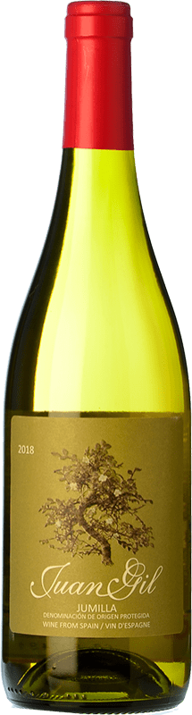 5,95 € 免费送货 | 白酒 Juan Gil Moscatel Seco D.O. Jumilla 卡斯蒂利亚 - 拉曼恰 西班牙 Muscat of Alexandria 瓶子 75 cl