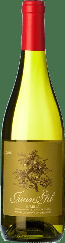 5,95 € Free Shipping | White wine Juan Gil Moscatel Seco D.O. Jumilla Castilla la Mancha Spain Muscat of Alexandria Bottle 75 cl