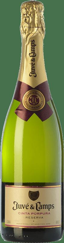 14,95 € | White sparkling Juvé y Camps Cinta Púrpura Brut Reserva D.O. Cava Catalonia Spain Macabeo, Xarel·lo, Parellada Bottle 75 cl