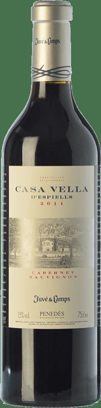 24,95 € | Red wine Juvé y Camps Casa Vella d'Espiells Crianza D.O. Penedès Catalonia Spain Cabernet Sauvignon Magnum Bottle 1,5 L