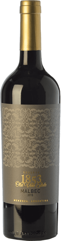 16,95 € | Red wine Kauzo 1853 Reserve Reserva I.G. Valle de Uco Uco Valley Argentina Malbec Bottle 75 cl