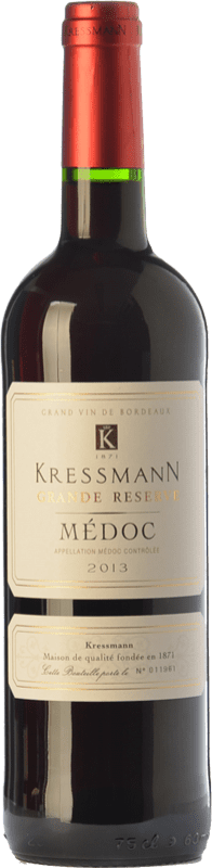16,95 € Free Shipping | Red wine Kressmann Grande Réserve Gran Reserva A.O.C. Médoc Bordeaux France Merlot, Cabernet Sauvignon Bottle 75 cl