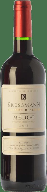 15,95 € Envío gratis | Vino tinto Kressmann Grande Réserve Gran Reserva A.O.C. Médoc Burdeos Francia Merlot, Cabernet Sauvignon Botella 75 cl