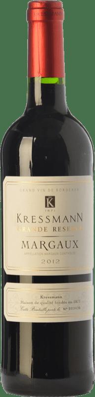 27,95 € Envío gratis | Vino tinto Kressmann Grande Réserve Gran Reserva A.O.C. Margaux Burdeos Francia Merlot, Cabernet Sauvignon, Petit Verdot Botella 75 cl