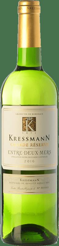 7,95 € Envío gratis | Vino blanco Kressmann Grande Réserve A.O.C. Entre-deux-Mers Burdeos Francia Sauvignon Blanca, Sémillon, Muscadelle Botella 75 cl
