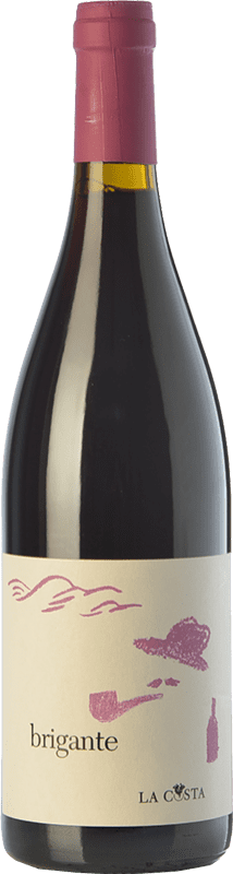16,95 € Free Shipping | Red wine La Costa Brigante Rosso I.G.T. Terre Lariane Lombardia Italy Merlot, Pinot Black Bottle 75 cl