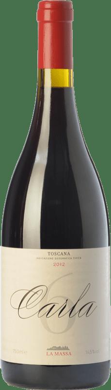 109,95 € Free Shipping | Red wine La Massa Carla 6 I.G.T. Toscana Tuscany Italy Sangiovese Bottle 75 cl